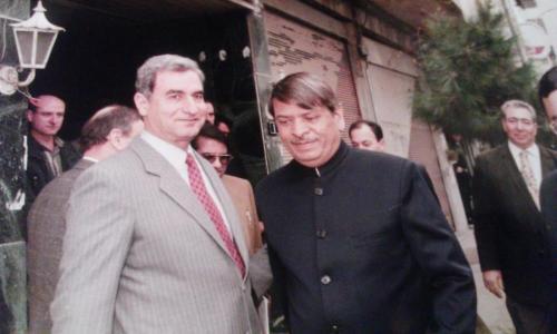 مع نائب رئيس وزراء الهند
