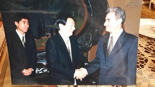 مع لي بينغ رئيس الوزراء الصيني