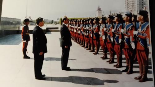 استعراض حرس الشرف المنغولي