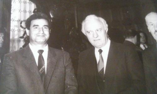 مع الرئيس الجورجي شيفارنادزا
