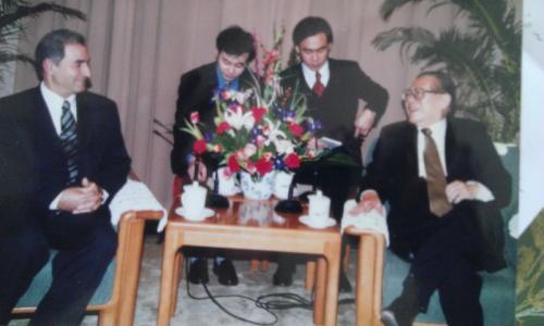 مع الرئيس الصيني جيانغ زيمين
