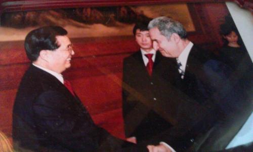 مع الرئيس الصيني هوجين تاو